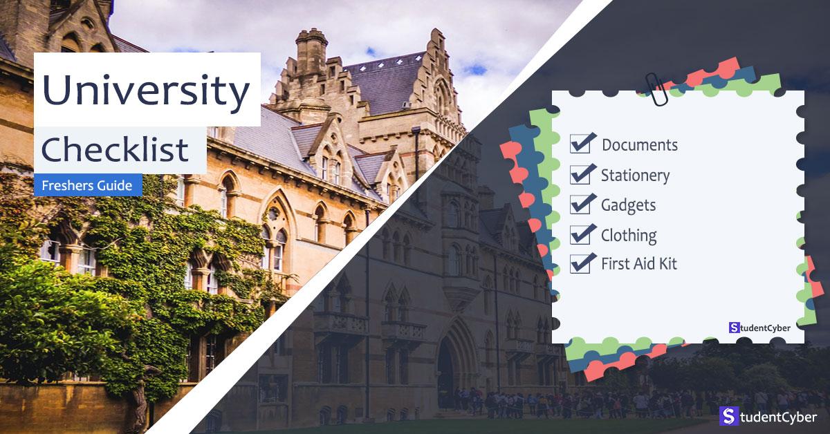 The University checklist for freshers